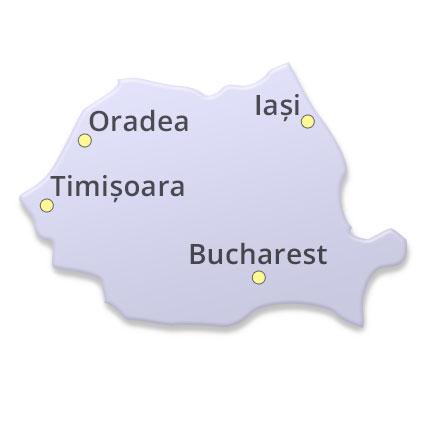 Romania, Bucharest, Timișoara, Oradea, Iași